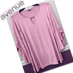 Avenue pink flounce sleeve tunic 14/16W